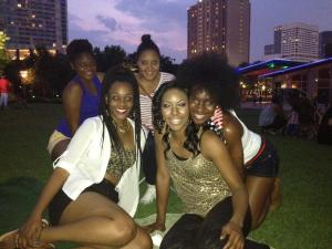 Everyone needs people to laugh with and lay on the grass at Discovery green.