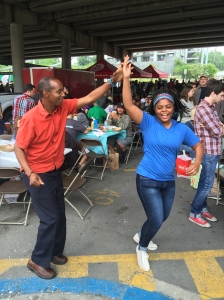 It's fun to dance at the Easter church service in downtown Austin.