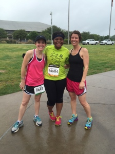 Alison and Angie would try to convince me to run a marathon if they could but I am thankful they stuck with a 10k. Ha
